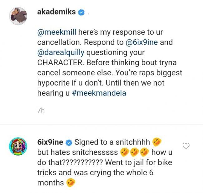 DJ Akademiks Responds To Meek Mill Cancellation