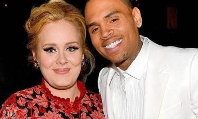 Chris Brown Spotted Leaving Adele's London Home Late-Night