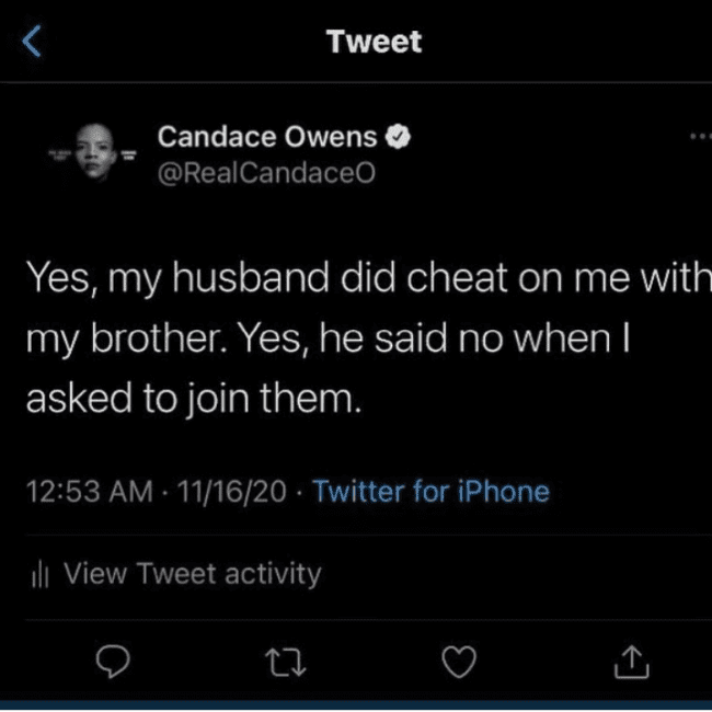 """Candace Owens: """"My Husband Did Cheat On Me With My Brother"""""""