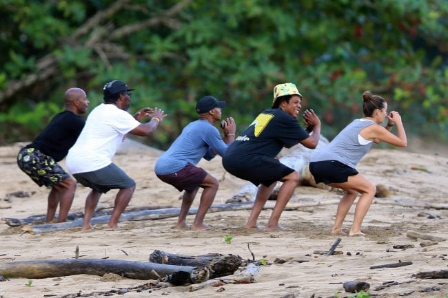 Twitter Reacts To Pictures Of Jay Z Exercising At The Beach