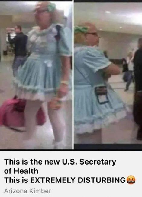 Conservatives Leak Pic Of Trans Secretary of Health Dressing As 'Little Girl'