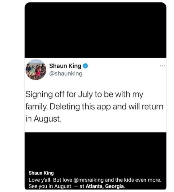 Twitter Reacts To Shaun King Deactivating His Account