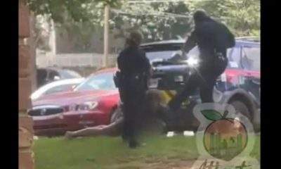 Two Atlanta Police Officers Have Been Suspended After Being Caught On Video Kicking Handcuffed Woman In The Head